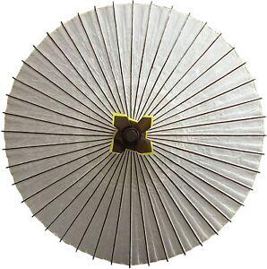 Wagasa Japanese Umbrella Paper Bamboo White Plain Men's Woman Kimono Dance#M1229