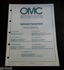 OMC Cobra Optional Equipment Parts Catalog 1984