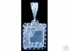 LOOK New Aries Ram Zodiac Pendant Charm Ancient Carving Solid Sterling silver Je