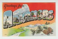 (43379) OLD LARGE LETTER POSTCARD GREETINGS from ARKANSAS