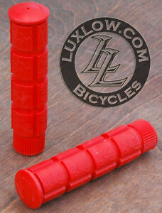 Red Fixie Track Bike Grips Fixed Gear Old School BMX Cruiser MTB Bicycle Grip