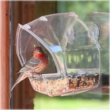 BIRD FEEDER - CRYSTAL CLEAR VIEW - WINDOW MOUNT - SHIPS FREE