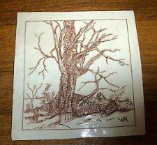 Vintage Art Pottery Tile - From Little Acorns - Keener - Myrtle Beach SC - WACG