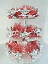 Lot 10pcs contenant à dragées lampe Aladdin avec tulle boîtes décoration mariage