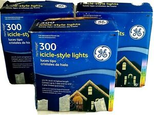 Merry Midget Vintage Multicolored Icicle Light Sets Lot of 3 Boxes=900 Lights