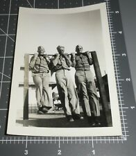 1940's ARMY MEN CHIN UP Muscle Men Exercise SHOW OFF Weight Lift Vintage PHOTO