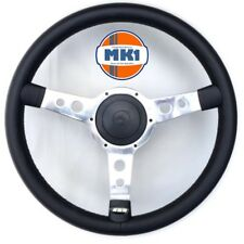 Austin Rover Mini 78>2000 Black Alloy Motorsport Style Steering Wheel  Boss Kit