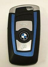 COQUE BLEU Clé Boitier Télécommande BMW F10 F20 F30 F40 GT Serie X1 X3*3 Boutons