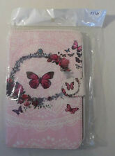 "Tablet Cover to fit Device 7.7"" x 4.5"", Pink Butterflies and Roses"