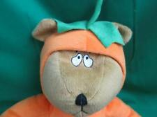 ORANGE JACK-O'-LANTERN PURPLE PUMPKIN SCARED TEDDY BEAR COSTUME PLUSH STUFFED AN