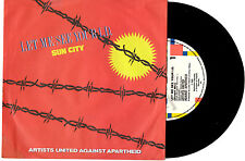 """ARTISTS UNITED AGAINST APARTHEID LET ME SEE YOUR ID PROMO 7""""45 RECORD PICSLV '85"""