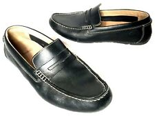 Clarks Mens 10.5 M Black Penny Loafer Driving Shoe Moccasin Leather 68664