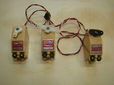 Three Futaba FD16M Vintage Servos for Radio Control Planes,Cars,Boats.