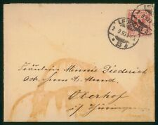 Mayfairstamps Germany 1893 Leipzig to Oberhof Cover wwr_04771