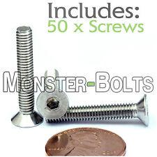M4 x 25mm - Qty 50 - DIN 7991 Stainless FLAT HEAD Countersunk Socket Cap Screws