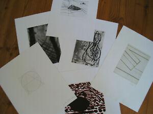 Konvolut,6x,orig,Grafik,Radierung,signiert,Penker,Assig,Ackermann,Griffelkunst