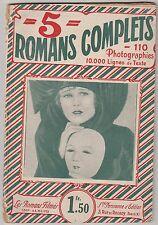 """Les Romans filmés, album N°80 : 5 romans complets """"Le film complet"""" 1930"""