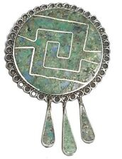 Large Pendant Brooch Jewelry Vintage Mexico Sterling Silver 925