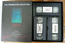 The Terminator Collection Limited Edition Box Set 3 Video Cassete & Book.