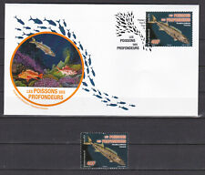 Polynesie 2019 Nature Fish from abysses Poissons Ruvettus FDC + stamp MNH Luxe**