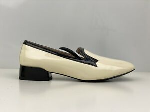 Clarks V&A Swixties Ball Womens Beige Patent Leather Loafers UK Size 5.5