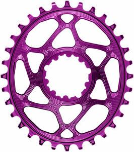 absoluteBLACK Oval Narrow-Wide Direct Mount Chainring 30t SRAM 3-Bolt 3mm Purple