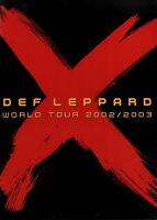 DEF LEPPARD 2002 / 2003 X WORLD TOUR CONCERT PROGRAM BOOK BOOKLET / NMT 2 MINT