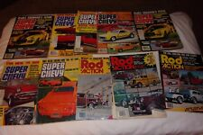Lot of 10 Super Chevy & Rod Action Magazines Hot Rod Rat Rod