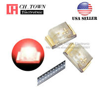 100PCS 0402 (1005) SMD SMT LED Red Light Emitting Diodes Ultra Bright USA