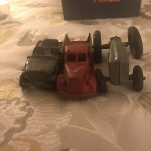 Vtg Large Scale TOOTSIETOY Toy Pickup, Jeep, And Tractor Parts/junk Lot