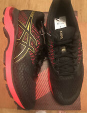 Asics Gel Pulse 10 Mens Running Trainers In Black/Rich Gold Uk Size 8 Brand New
