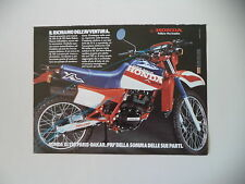 advertising Pubblicità 1984 MOTO HONDA XL 125 R PARIS DAKAR
