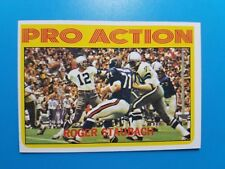 1972 TOPPS FOOTBALL #122 PRO ACTION ROGER STAUBACH EX-MINT++