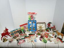 Huge Lot Of Vintage Christmas Ornaments -Decor-Some NOS -Nice Lot