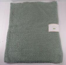 "Pottery Barn Textured Organic Cotton Bath Mat Rug 27x 45"" Green #8121"