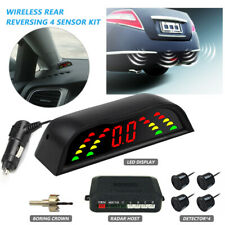 4 Parking Sensors Reversing Car Rear Reverse Audio Buzzer Alarm Kit LCD Display