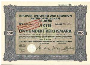 Leipziger Speicherei und Speditions AG in Leipzig  1929