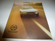 CATALOGUE CITROEN CX ELUE VOITURE DE L'ANNEE 1974/1975 BEL ETAT