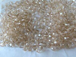 70 Preciosa round Crystal beads in 6mm Crystal Honey