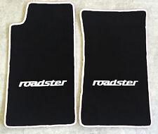 Autoteppich Fußmatten für Mazda MX 5 NA roadster schwarz weiss 2teilig Neuware
