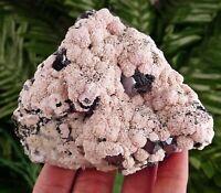 Rare Rhodochrosite with Galena from rare locality Batanci Mine, Bulgaria, Crysta