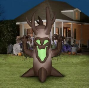 Gemmy Halloween 7 ft LED Shortcircuit Lightshow Spooky Tree Airblown Inflatable