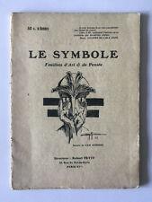 LE SYMBOLE FEUILLETS ART PENSEE N°2 1917 PETIT PLAT ILLUSTRE DE CAM AURISSE