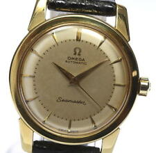 Auth Vintage OMEGA Seamaster 18K Solid Gold cal.354 Automatic Men's Watch_348580
