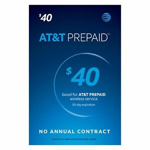 $40 AT&T PREPAID REFILL DIRECT to PHONE GET IT TODAY! 🔥 IF PAY BEFORE 11 PM ET