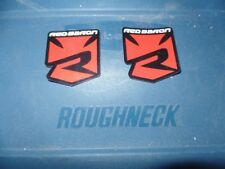 2 NEW ATV MX STICKER DECAL RED BARON HONDA TRX 250R CRF50 CRF 50 KLX110 KLX 110