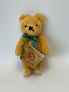 "Vintage 1980's Hermann Teddy Original  Mohair Jointed Gold Bear 5""  West Germany"