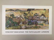 VAN GOGH,'FARMS NEAR AUVERS,1890' RARE AUTHENTIC 1990 TATE GALLERY ART PRINT