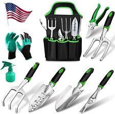 10 PCS Garden Tools Set Gardening Kit Gifts Heavy Duty Aluminum Hand Tools& Bag