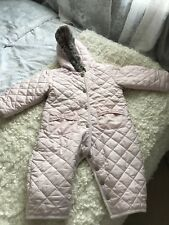 Jasper Conran Junior 9-12 Months Girl's Quilted Pink Snowsuit